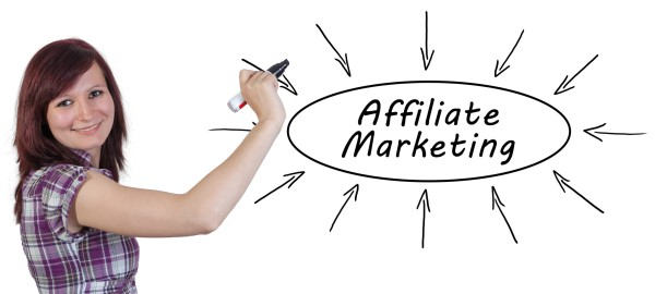affiliates marketing lady showing