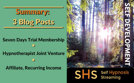 Summary 3 Blogs About Self-Hypnosis Streaming Project