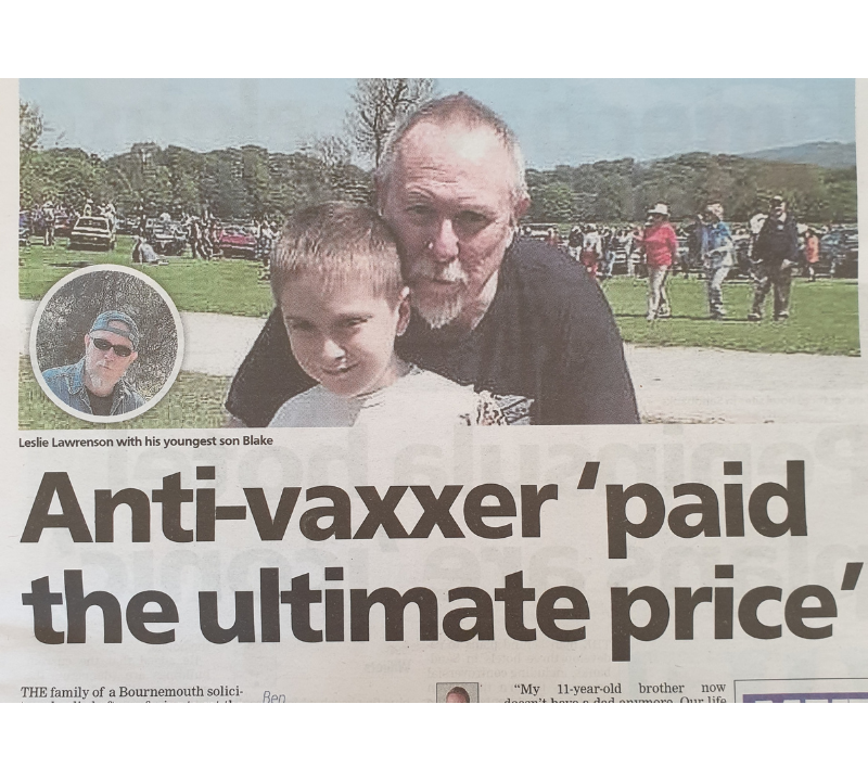 anti-vaxxer dies at 58